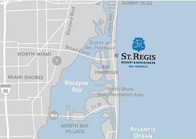 St Regis Bal Harbourmap