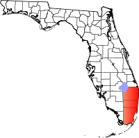 Map of South East Florida Region