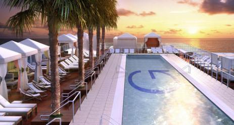 Gansevoort Hotel Rooftop Pool Deck